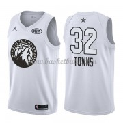 Minnesota Timberwolves Karl-Anthony Towns 32# Vit 2018 All Star Game NBA Basketlinne..